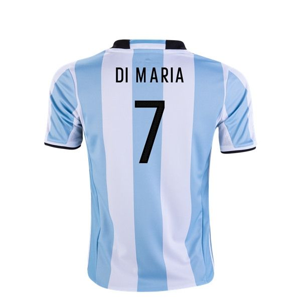 adidas Angel Di Maria Argentina Youth Home Jersey 2016