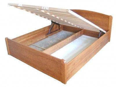 Anton ágyneműtartós bükk ágykeret