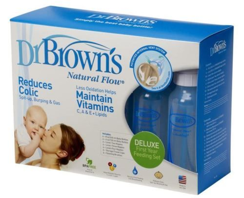 Dr Brown's Deluxe Feeding Set 10 x Bottles incl. 4 Teats Cleaning Brush etc