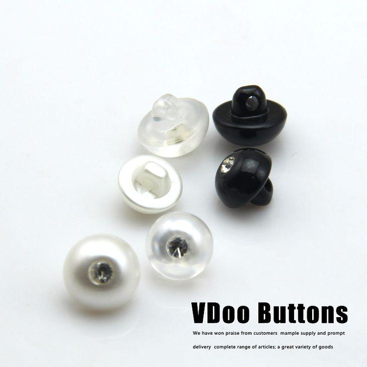 Бесплатная доставка Кнопка жемчуг с алмазной застежкой пряжкой оптовая монополия полукруг перл застежка 10-12mmsewing поставок