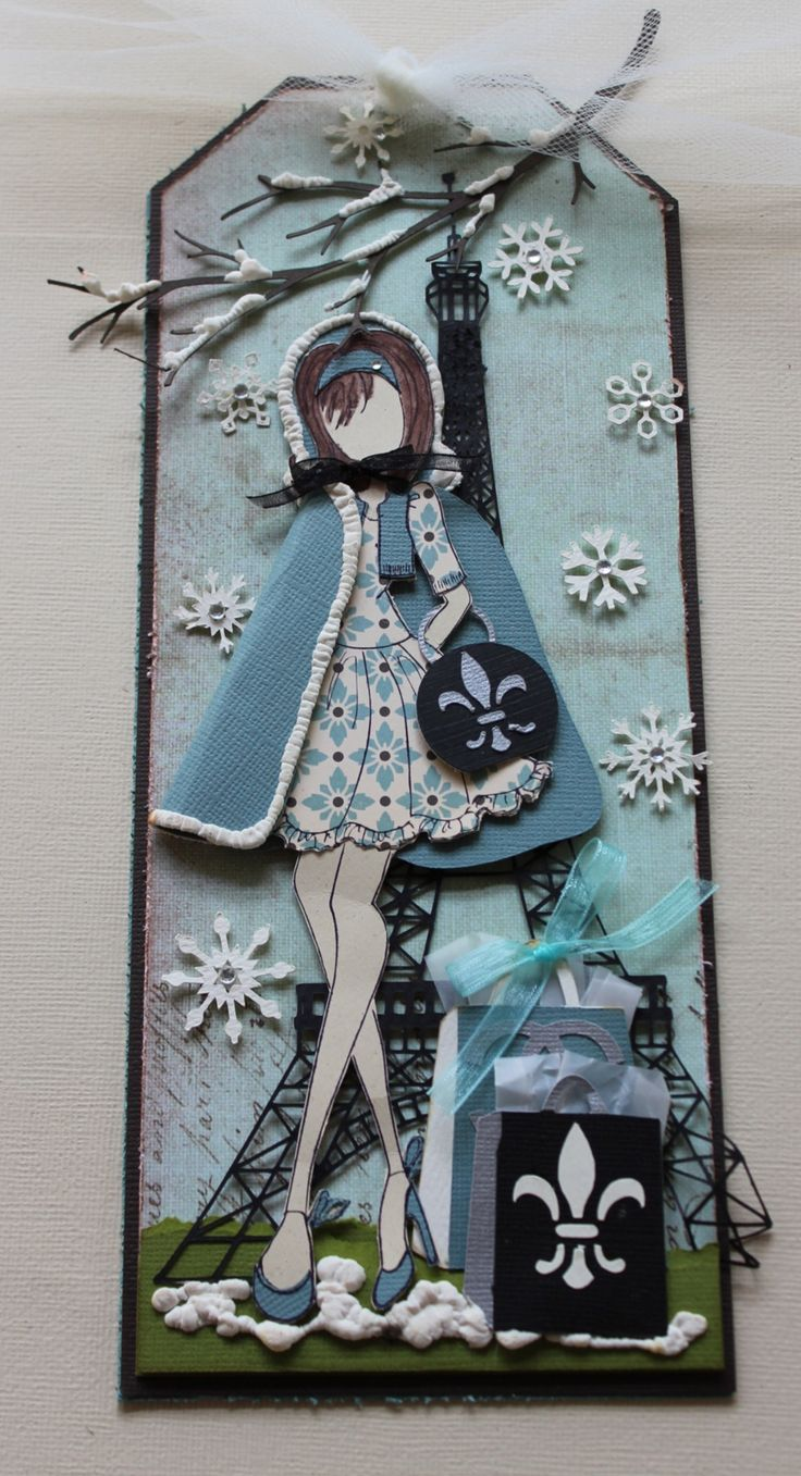 Paris Collection--Winter created with Julia Nutting Paper Doll Stamps