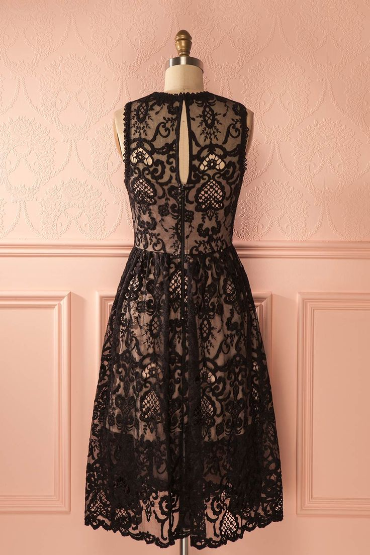Tory Dark - Black lace cocktail dress