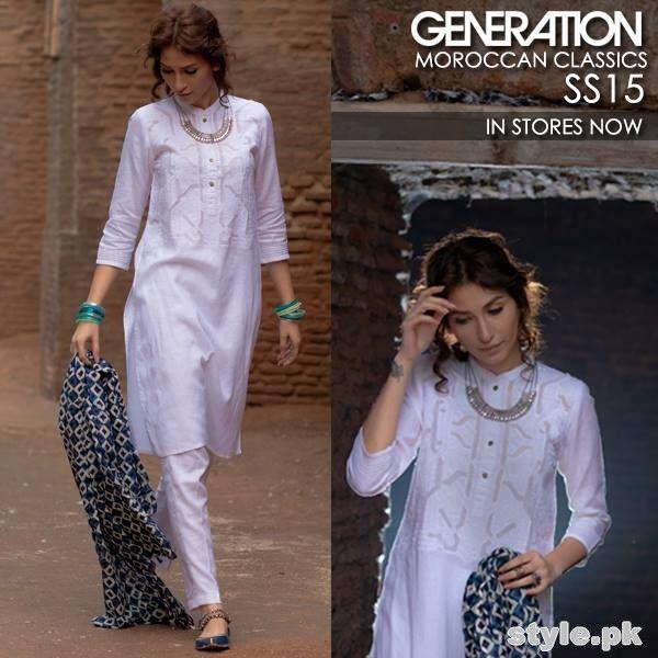 Generation Summer Dresses 2015. Pakistani fashion.