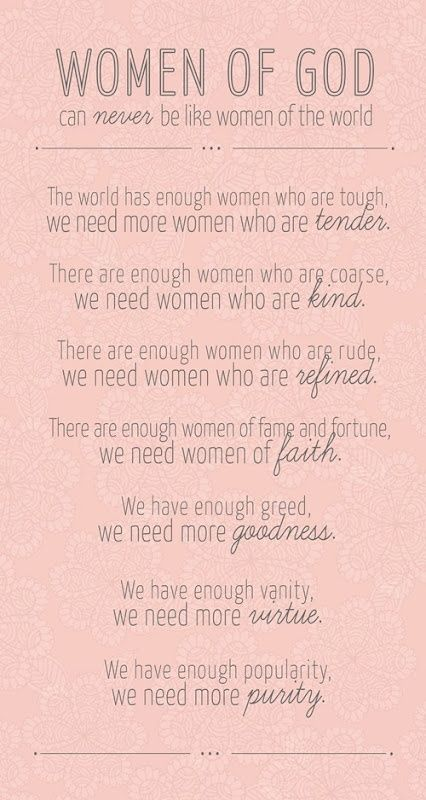 Amen. Help us Abba Father God to be women as You created us to be. May we seek Your word, will and leading and always look to beloved Jesus to define us <3