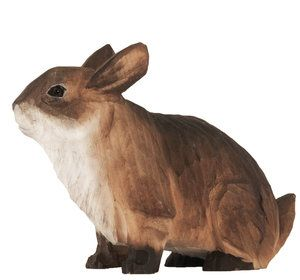 Hand carved and hand painted  #rabbit - will be perfect as #easterbunny as well! From Wildlife Garden in Sweden. #kanin #coniglio #kaninchen #lapin #Konijn