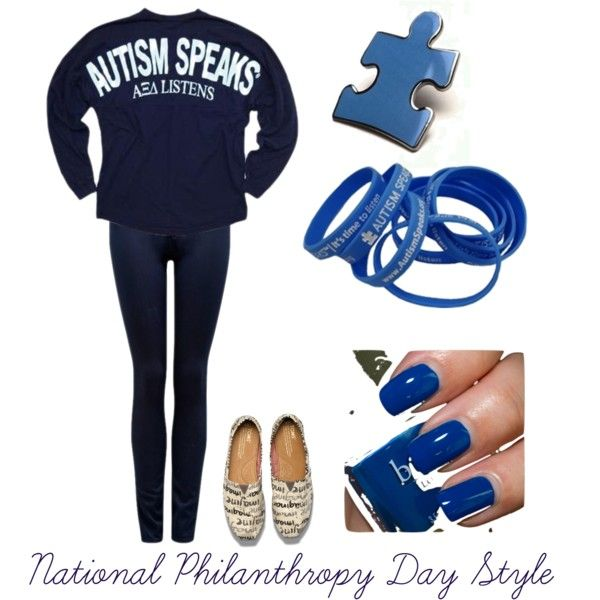 National Philanthropy Day Style: Autism Speaks jersey available via Xi Boutique