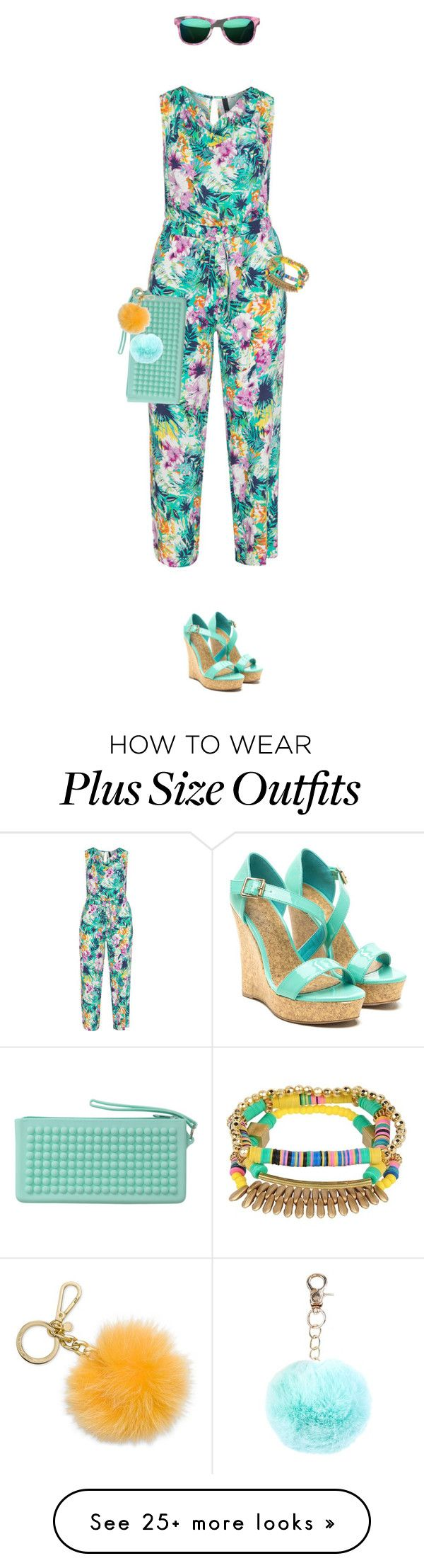 """""""Plus Size - Overalls"""" by lorantin on Polyvore featuring Manon Baptiste, RumbaTime, New Look, Michael Kors and Sugar NY"""