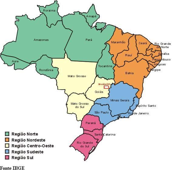 Divisão política do Brasil - Introdução ao estudo da geografia - Colégio Web