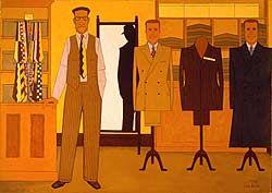 John Brack.Men's wear. 1953.National Gallery of Australia.