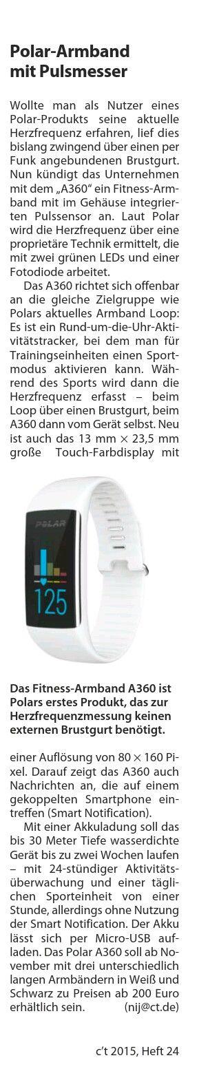 Polar armband mit HFM