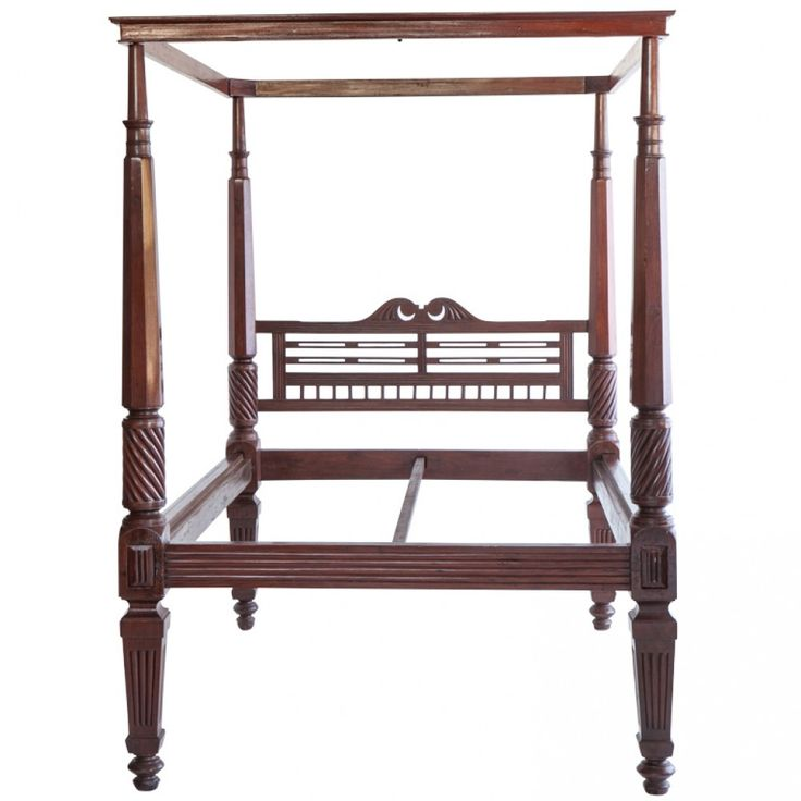 Anglo Indian Mahogany Four Poster Bed Antique Bedsantique