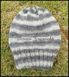 Scorzo Tricroche: Receita de gorro largo de tricô para iniciantes / ...