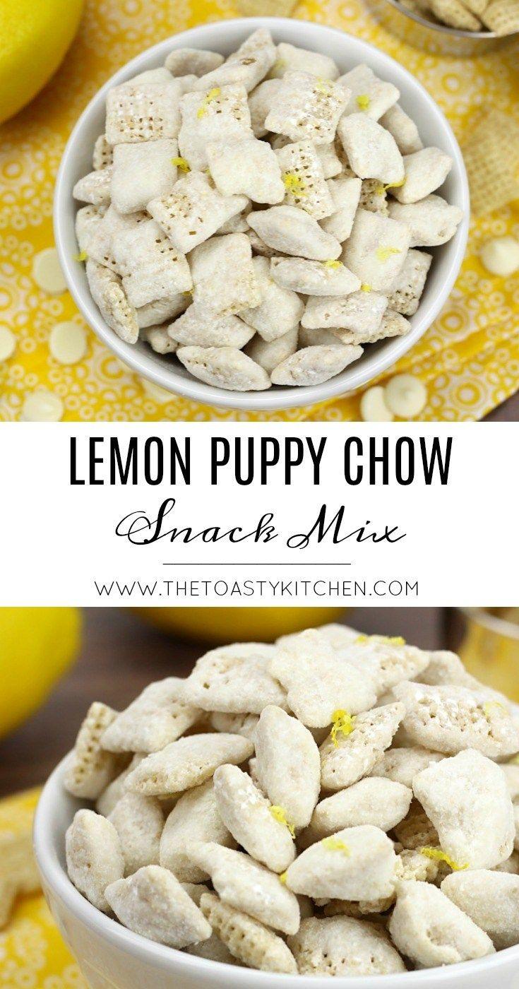 Lemon Puppy Chow Snack Mix The Toasty Kitchen Lemonpuppychow Puppychow Snackmix Snackideas Snack Lemon Puppy Chow Puppy Chow Snack Mix Snack Mix Recipes