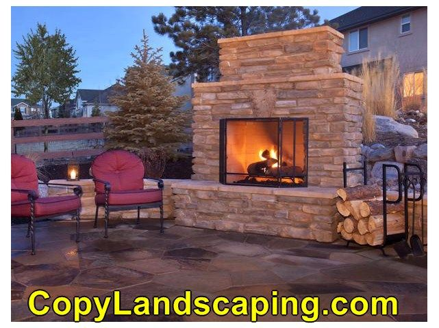 Excellent idea on  outdoor fireplace quebec