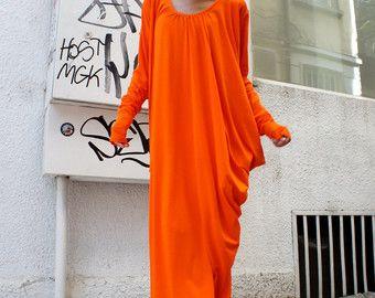 Nuova collezione Maxi Dress / grigio asimmetrico Kaftan di Aakasha