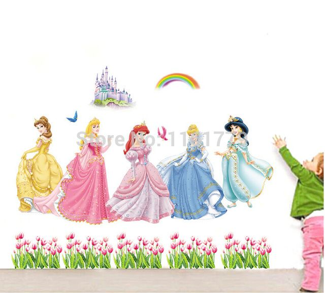 "Check current price 140x100cm (55""x340"") ABC1018 Princess Wall Stickers for Kids Rooms Home Decoration DIY Adesivo de Parede Bedroom Bathroom Mural just only $4.50 with free shipping worldwide  #wallstickers Plese click on picture to see our special price for you"