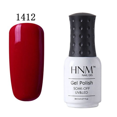 HNM 8ml Soak Off UV Gel Nail Polish Pure Colors Nail Gel Polish Gel Lak Vernis Semi Permanent Lacquer Gel Varnishes Gelpolish