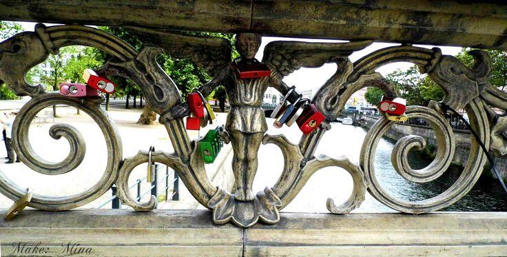 some love padlocks in Berlin