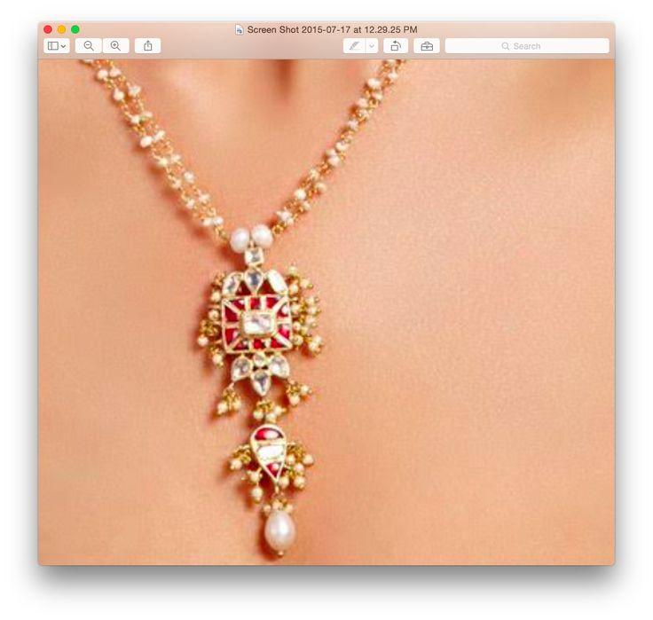 elegance of pearl and kundan!
