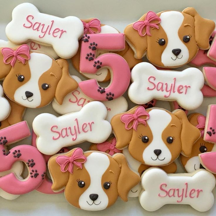 Girly Puppy Cookies These Just Capture My Heart