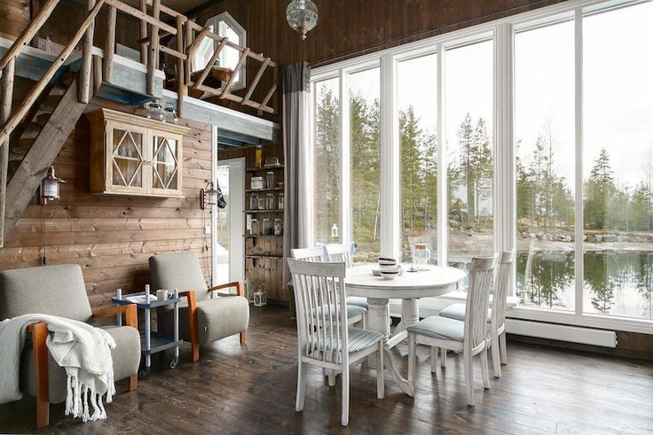 Perfect scandinavian style small house by water