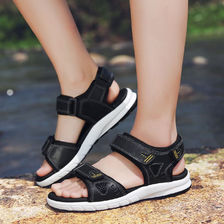 summer sandals casual breathable high quality geninue leather fashion