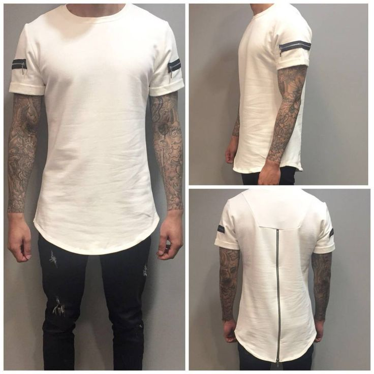 White long shirt back zipper €36,95 #sale #tshirt #longshirt #zipper
