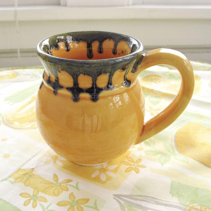 Happy Yellow Pottery Coffee mug