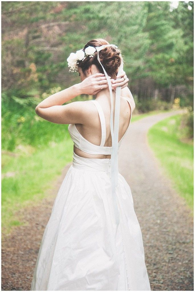 Forest Wedding Inspiration | CAPTURED by Keryn | candid documentary photography | www.capturedbykeryn.com | Alma Wong Gown | Beau Floral atelier | make me up abby | toni & Guy | flower crown | lace jacket