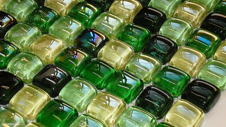 A05 Buble cube dah Mozaika szklana zielony mix - MOZAIKI WEDŁUG KOLORÓW - Mozaika szklana, złota, srebrna, czarna, biała, fioletowa, czerwona, basenowa, kamienna, mozaiki szklane