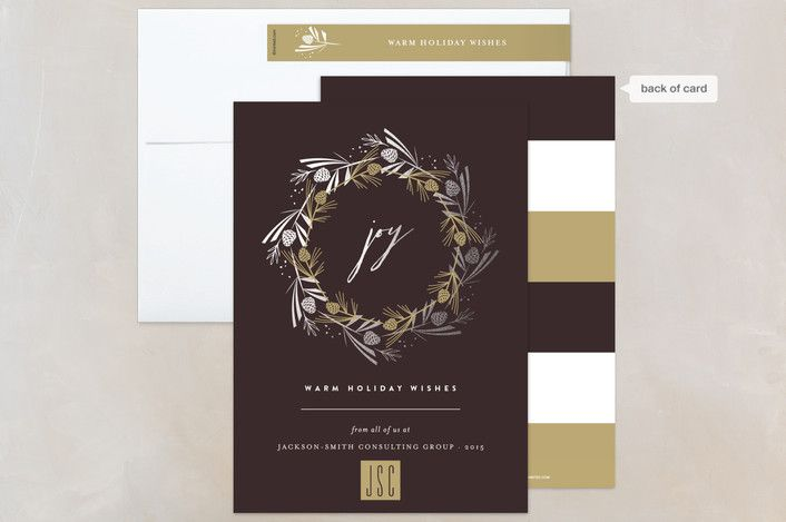 137 best holiday corporate business images on pinterest pine cone joyous wreath hot cocoa business holiday cards by fatfatin at minted reheart Images
