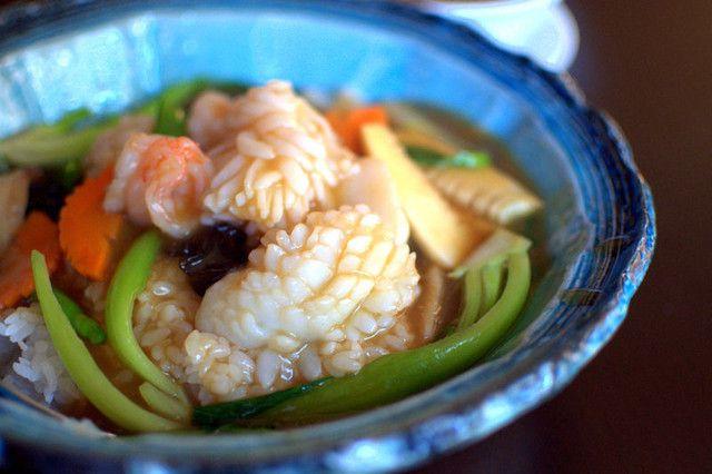 中国名菜 露天 - 海鮮と野菜の餡かけごはん(1,260円)
