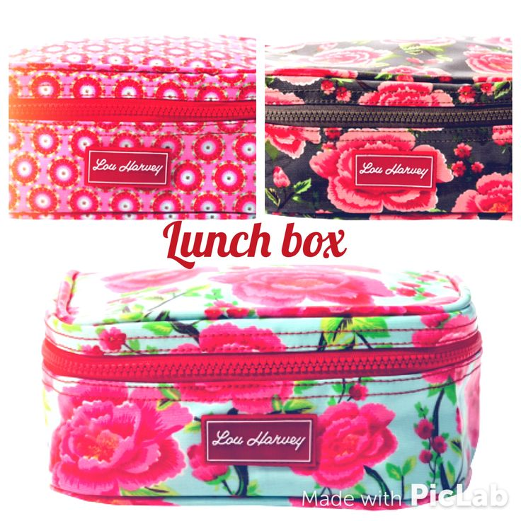 Great patterns, Lou Harvey, insulated lunch boxes