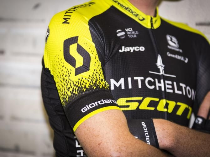 Mitchelton–Scott is Previously ORICA-SCOTT, the Australian outfit becomes Mitchelton-SCOTT for 2018, a professional road race cycling team. Mitchelton-SCOTT's new black and yellow kit is produced by Giordana Cycling