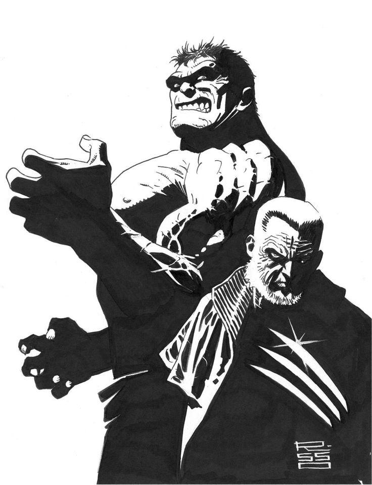 Old Man Logan and the Hulk by Ed Risso Comic Art