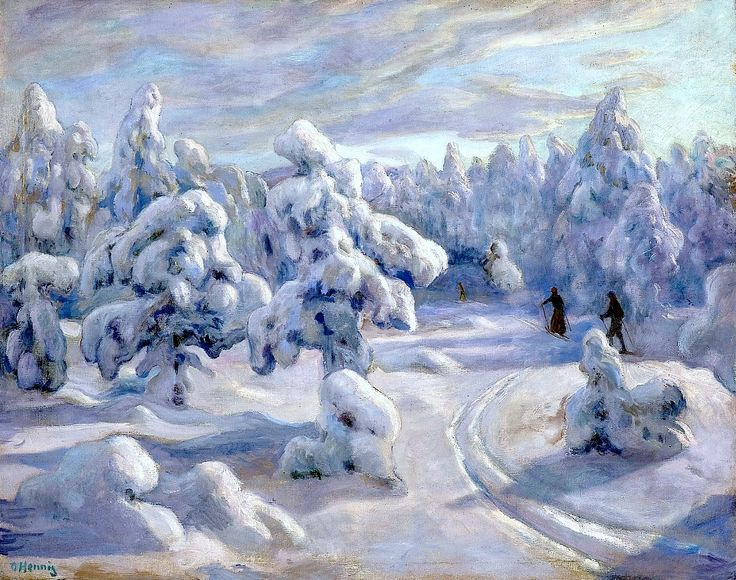 "In ""Nordmarka"" after snowfall - Otto Hennig (1871-1920)"