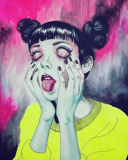 aesthetic, horror, and alternative