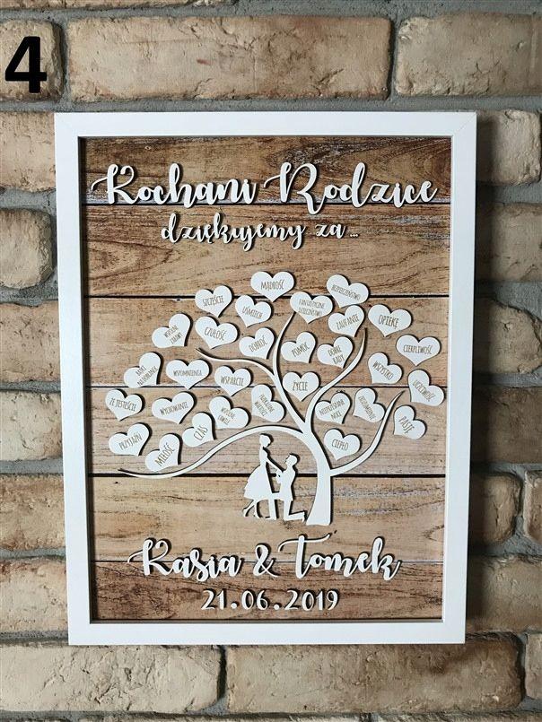 Podziekowanie Dla Rodzicow Slub Wesele Prezent 3d Wedding Guest Book Wedding Book Guest Book
