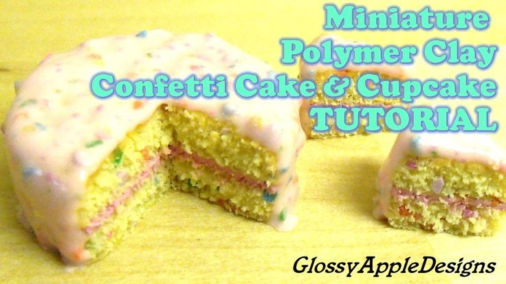 TUTORIAL: How To Make A Confetti Cake & Cupcake Charm Out Of Polymer Cla...
