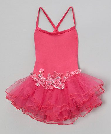 Take a look at this Hot Pink Sequin Rose Skirted Leotard - Infant, Toddler & Girls by Seesaws & Slides on #zulily today!