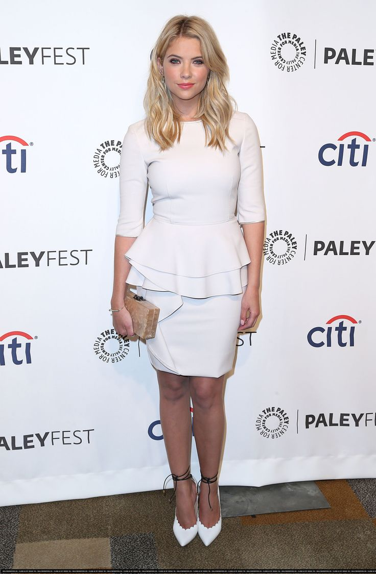 Gorg peplum dress on Ashley Benson