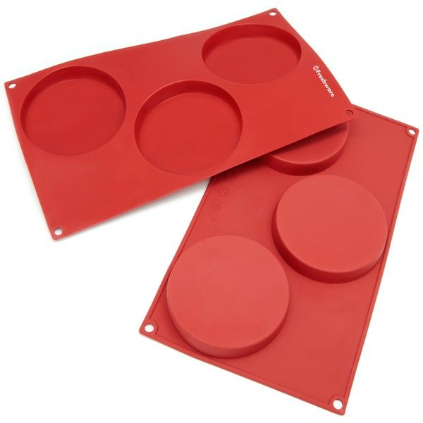 Freshware 3-cavity Disc Cake Silicone Mold/ Baking Pans (Pack of 2) - Overstock Shopping - Great Deals on Freshware Silicone Bakeware