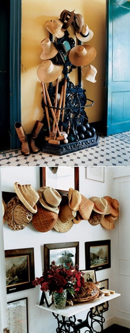 Decorate your home with hats