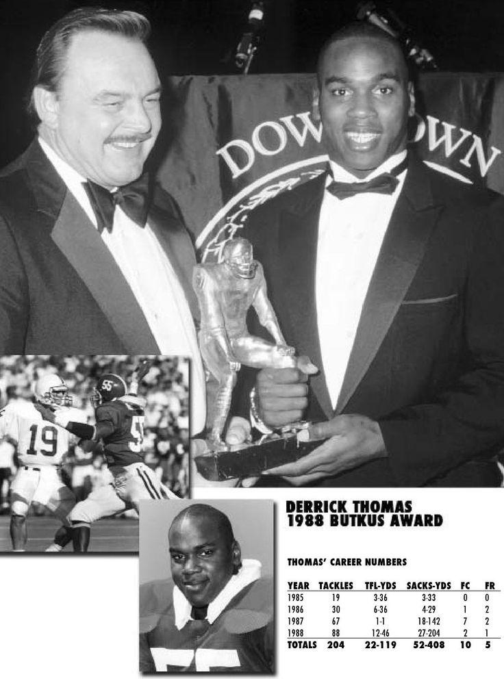 Derrick Thomas 1988 Butkus Award - Football Media Guide by Alabama Crimson Tide #Alabama #RollTide #BuiltByBama #Bama #BamaNation #CrimsonTide #RTR #Tide #RammerJammer #DerrickThomas