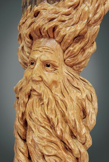 Images about wood spirits greenmen carving