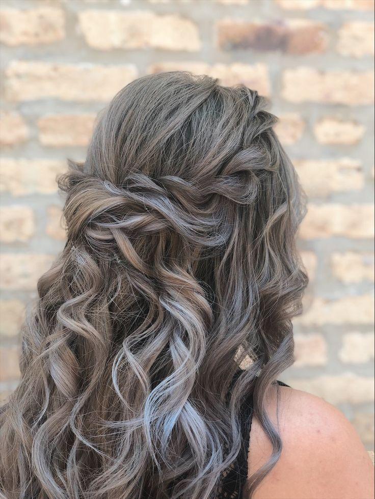 53 Elegant Half Curly Hairstyles Ideas