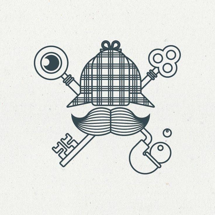 Sherlock Holmes escape game | Logo EHOP Design
