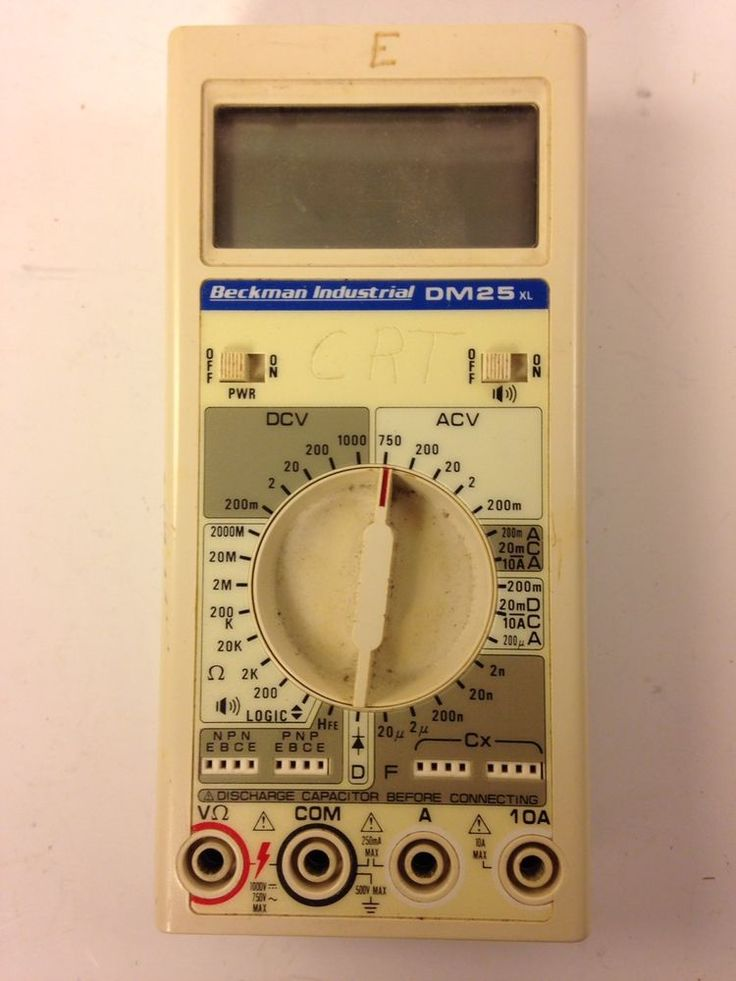 Vintage Beckman Industrial DM25XL Digital Multimeter DMM Transistor and Cap Test. ebsAmerica
