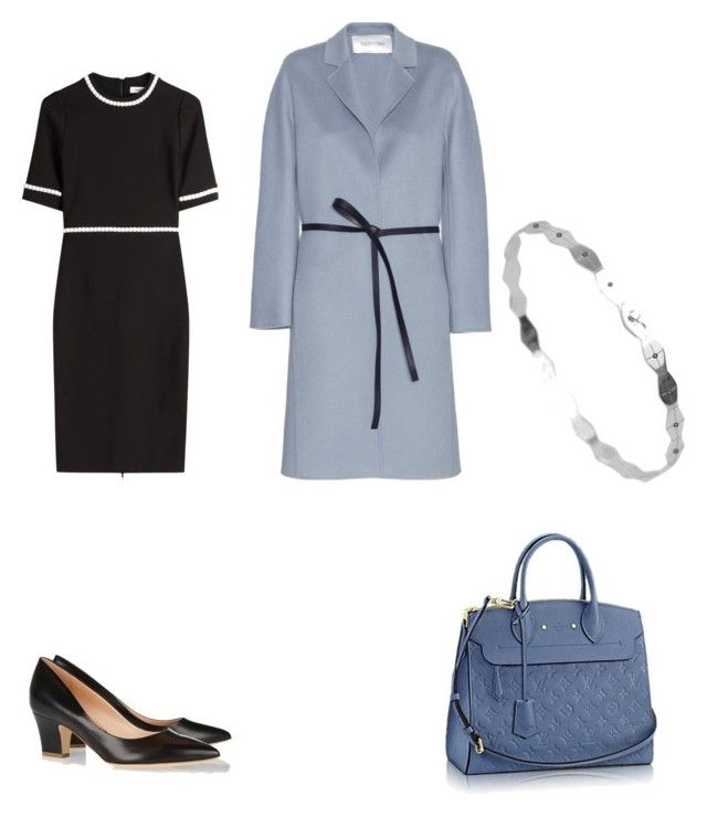 office look by the925editor on Polyvore featuring Thierry Mugler, Valentino and Rupert Sanderson