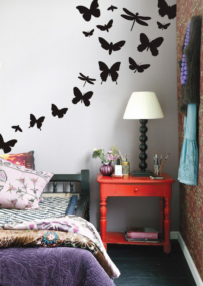 Nature Wall Decals.: Decor, Ferm Living, Idea, Butterflies Wall, Wall Decals, Violets, Wall Stickers, Girls Rooms, Kids Rooms